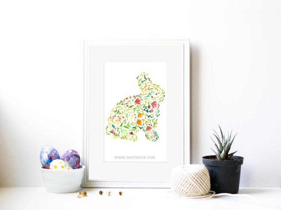 floral watercolor silhouette tutorial by Zakkiya Hamza of Inkstruck Studio