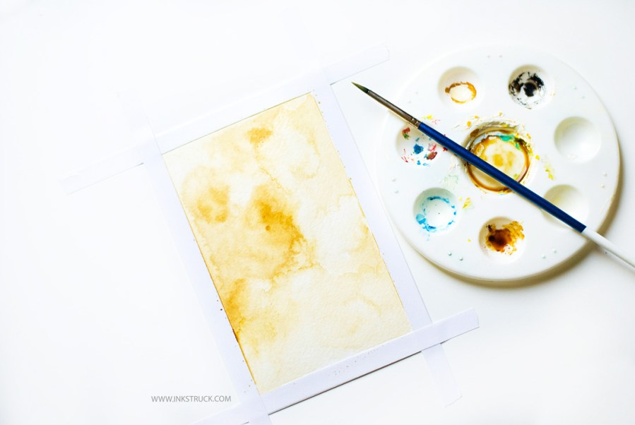 coffee painting tutorial by Inkstruck Studio