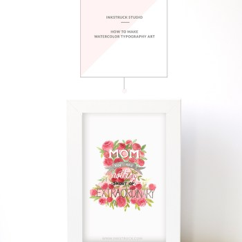 Learn how to make watercolor typography art with this step by tutorial by Zakkiya Hamza of Inkstruck Studio.