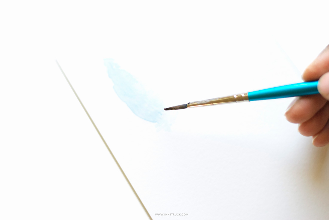 Line Drawing Feather : Watercolor feather tutorial inkstruck studio