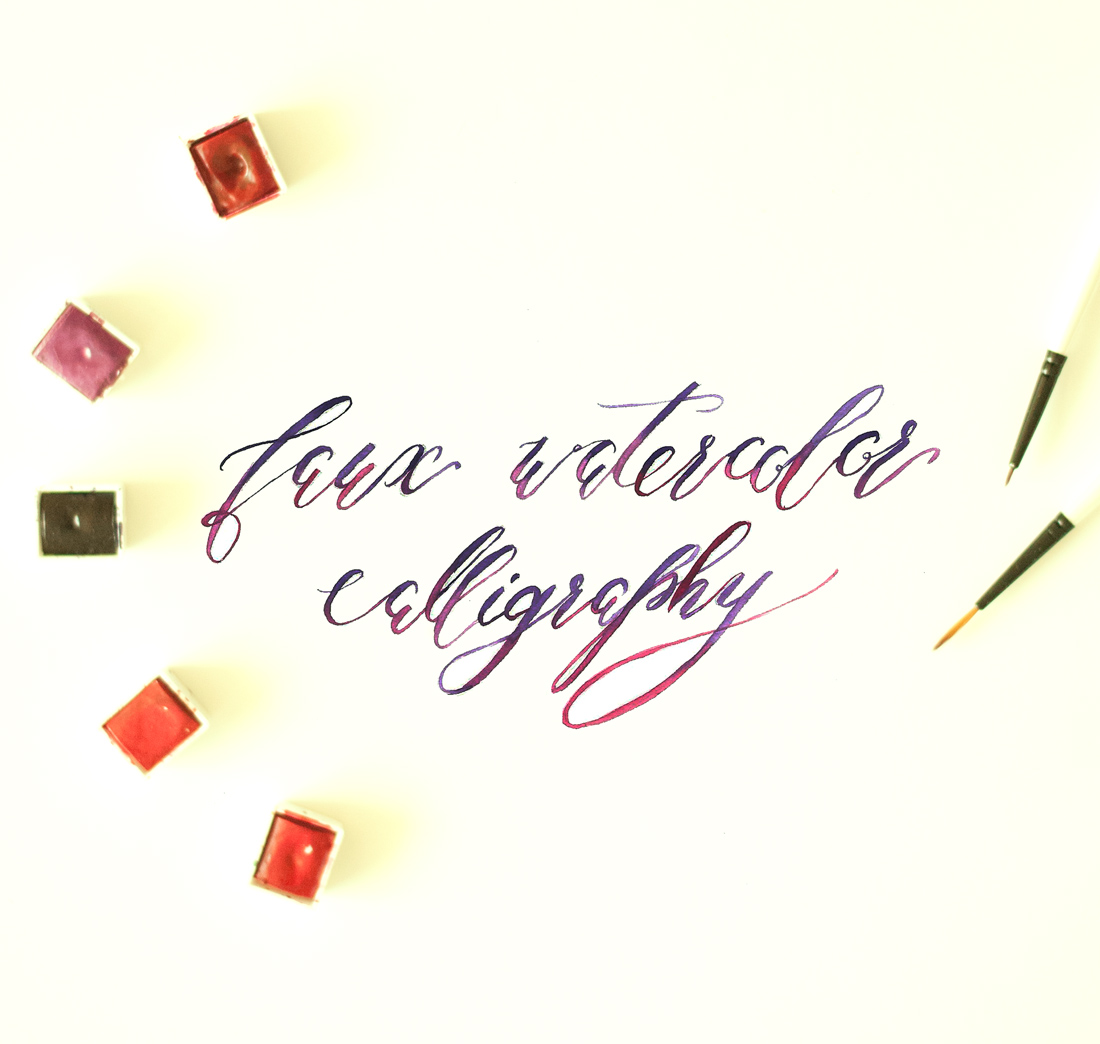 Faux Watercolor Calligraphy 12