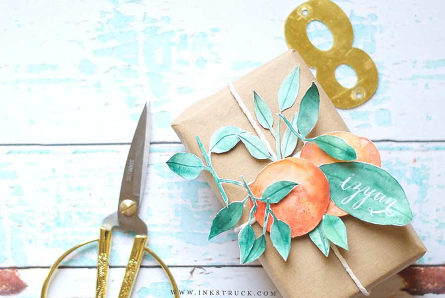 Learn how to create watercolor paper collage that you make use in projects like gift wraps, wall decor, Valentine's day,anniversary or any occasion card | Zakkiya Hamza of Inkstruck Studio.