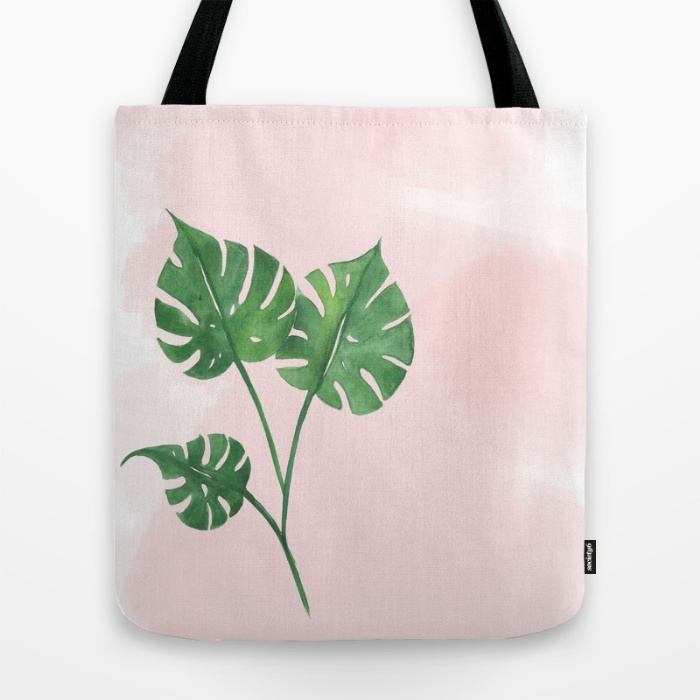 Watercolor tropical tote bag | Inkstruck Studio