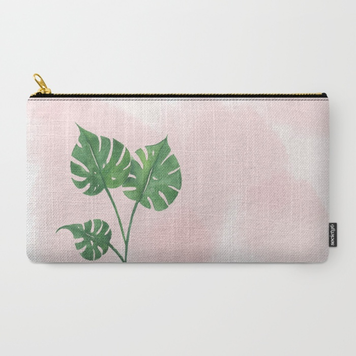 Watercolor tropical pouch | Inkstruck Studio