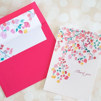 Create fab DIY envelope liners by following this simple tutorial and download one for free - Inkstruck Studio