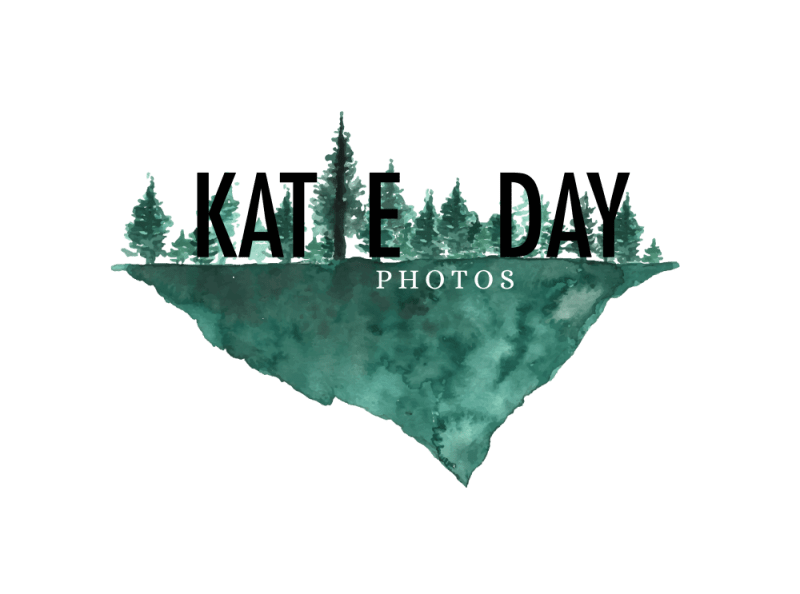 Katie Day custom watercolor logo - www.inkstruck.com