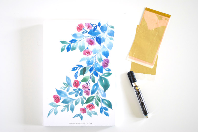 DIY gold leaf art with Canvas Champ- Inkstruck Studio