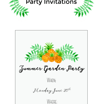 Learn how to create a watercolor pineapple party invitation for summer