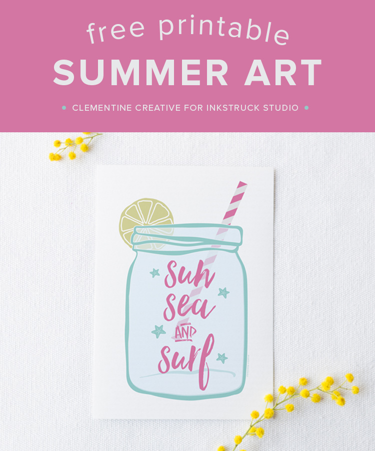 Add a touch of summer to your home with this free summer art print!-Inkstruck Studio
