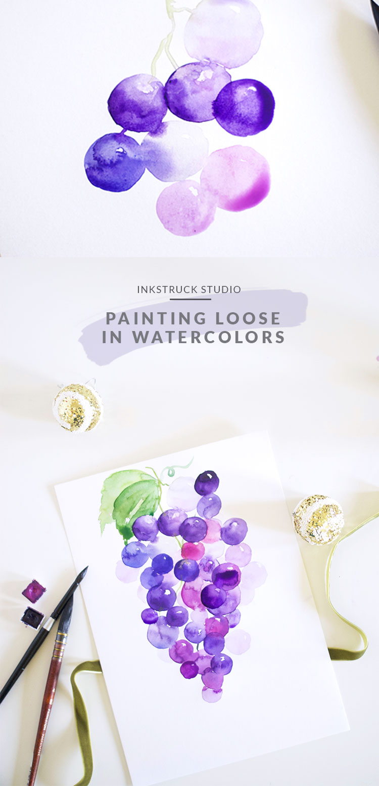 Loose watercolor painting - A detailed tutorial | Inkstruck Studio