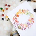 Watercolor Fall Wreath Diy Inkstruck Studio