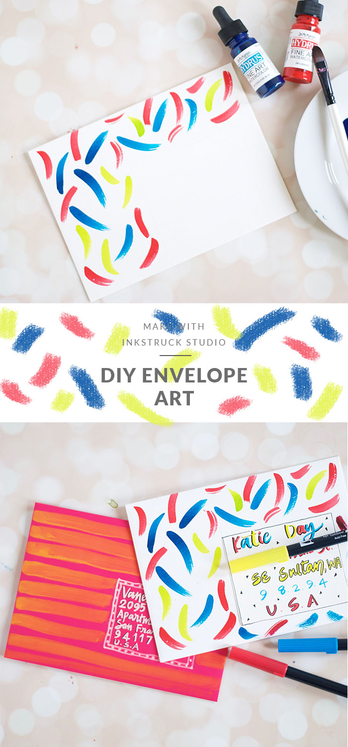 Two fun ways to create DIY mail art. Click on to read how to make them really easy | Inkstruck Studio