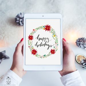 3 Free Holiday Tech Wallpapers / Fox & Hazel
