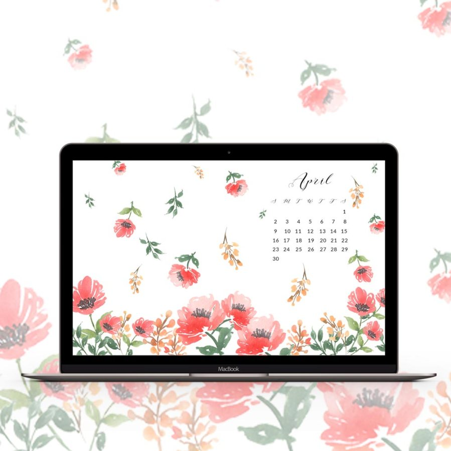 It's time for your monthly wallpaper fix. Grab my free April watercolor wallpapers on the blog now - Inkstruck Studio