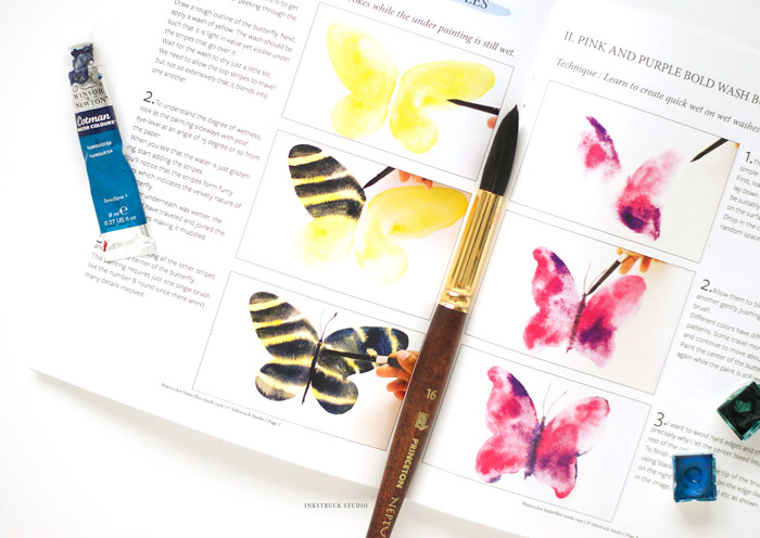 Do you love watercolors and want to learn all about it? This comprehensive book to paint watercolor butterflies has it all covered. Learn more by clicking the link - Inkstruck Studio