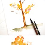 How To Paint A Watercolor Fall Tree Inkstruck Studio