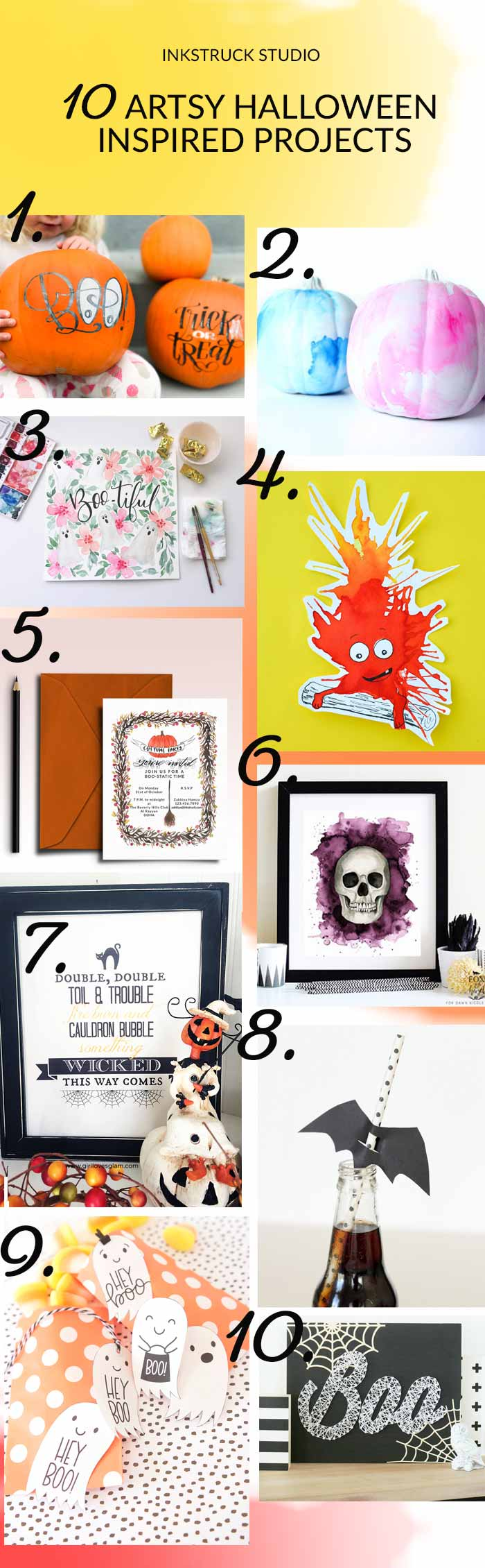 Check out some fabulous DIY Halloween projects in this artsy roundup - Inkstruck Studio