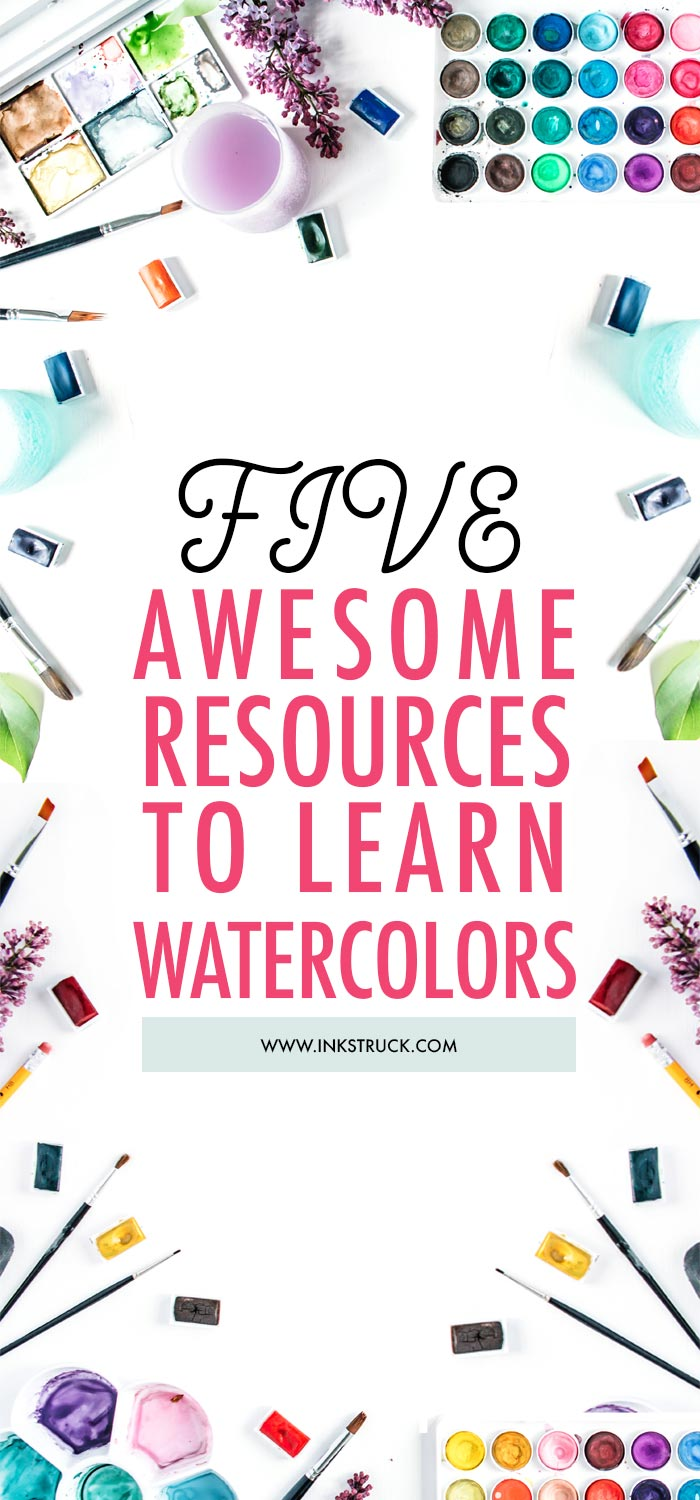 Here are some five awesome resources to learn watercolors. I've compiled some of my most popular and useful posts in single one to make things easy for you. Click to learn more- Inkstruck Studio