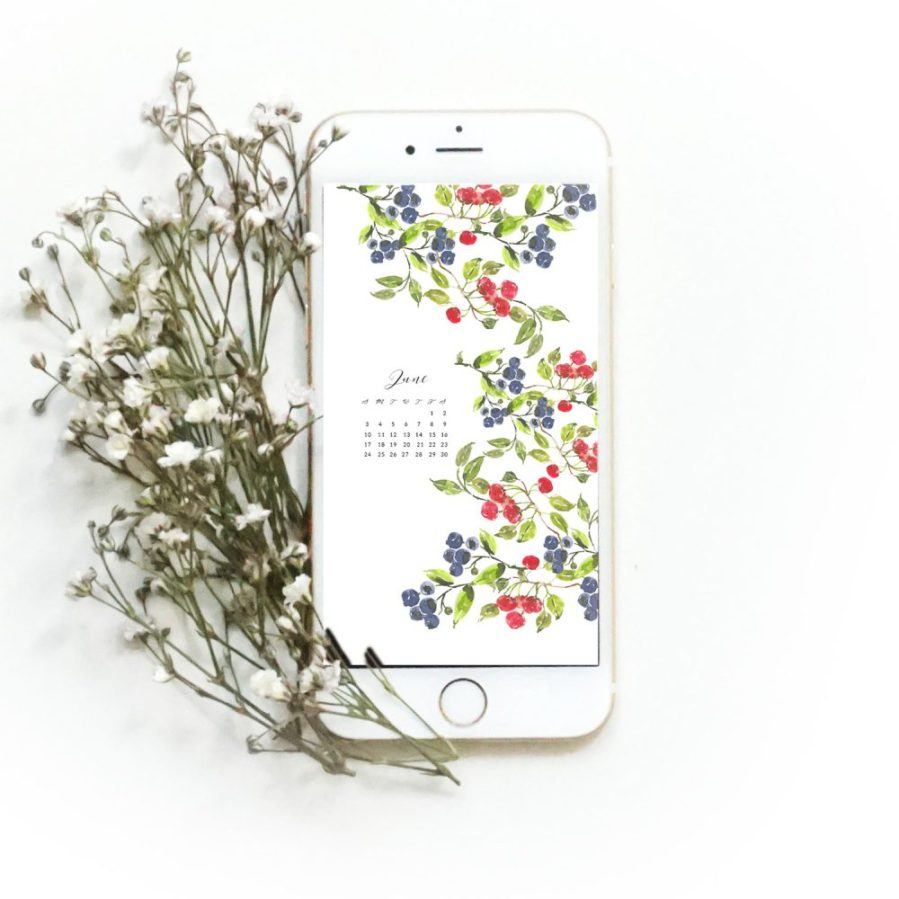 Grab my free 2018 June watercolor wallpapers on the blog now with both dated and undated versions for phones and desktops. - Inkstruck Studio