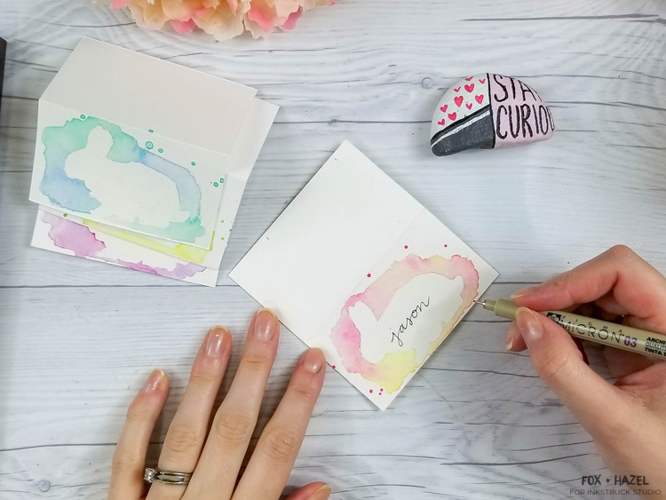 DIY Watercolor Easter Place Cards-23