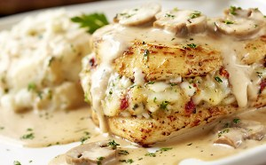 Photo spuriously purloined from Olive Garden's website. Shhh!