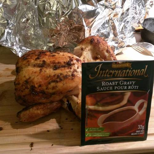 Tonight's flavour sensation... Chicken with the haunting taste of beef. Because I'm an illiterate dumbass, apparently...