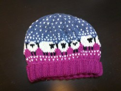 The Baa-ble Hat knit for my niece