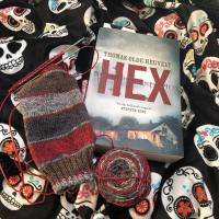 That time I knit a sock and read HEX
