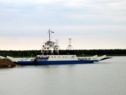 August 2002: The MacKenzie River Ferry stops to take on new passengers