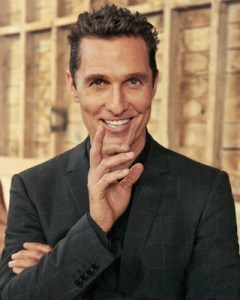 Matthew McConaughey as Randall Flagg in The Dark Tower. I've not seen the movie, but his likeness is perfect for the role.
