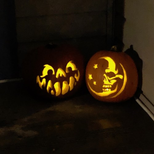 Zombie Pumpkins patterns Hammy and Mortem the Moon