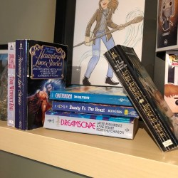 An assortment of women's romance novels.