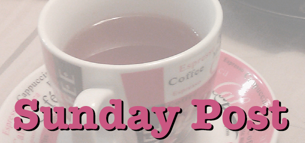 Sunday Post masthead graphic: A cup of tea fades into the background beneath the title