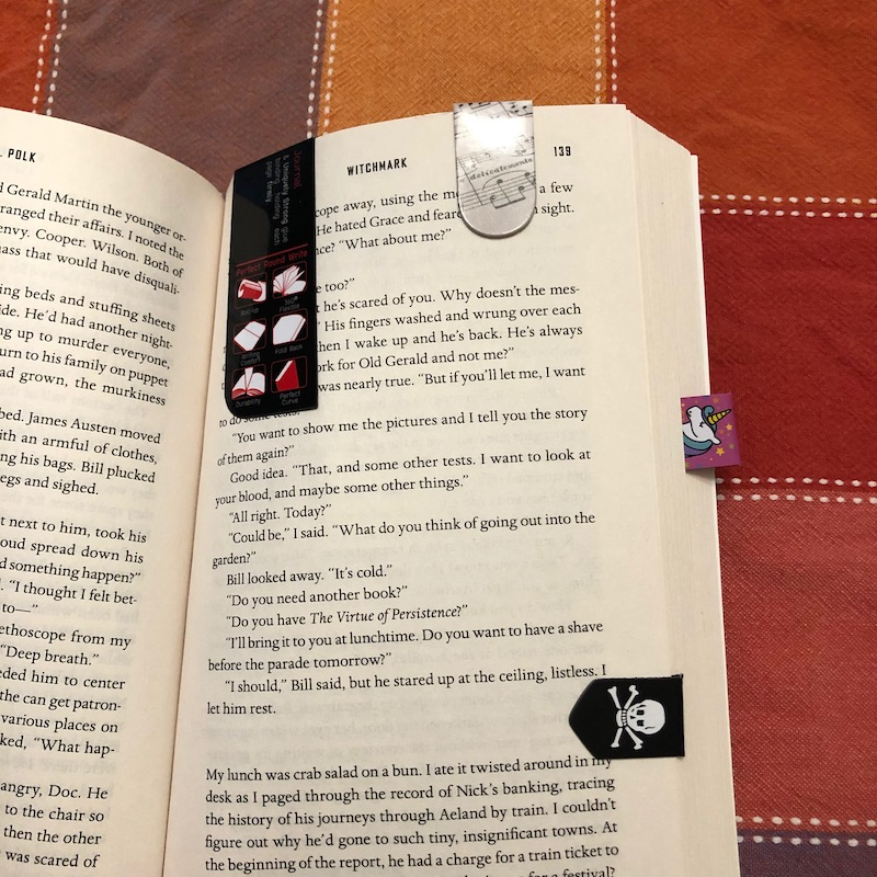 Magnetic Bookmarks all over CL Polk's Witchmark