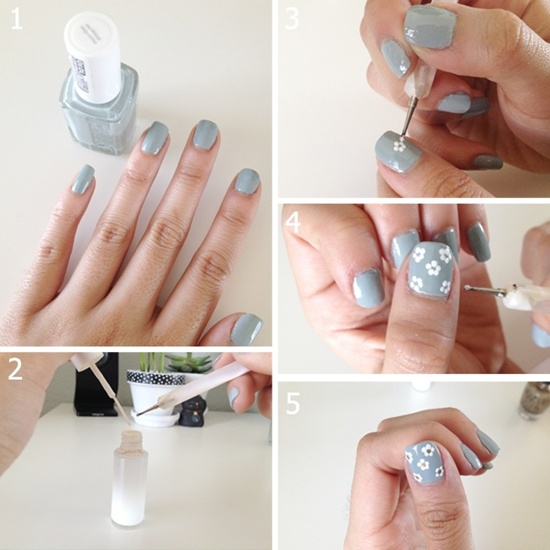 Once You Have Done This Need To Work When The Orange Nail Paint Is Not Yet Dry Apply On Some White Polish