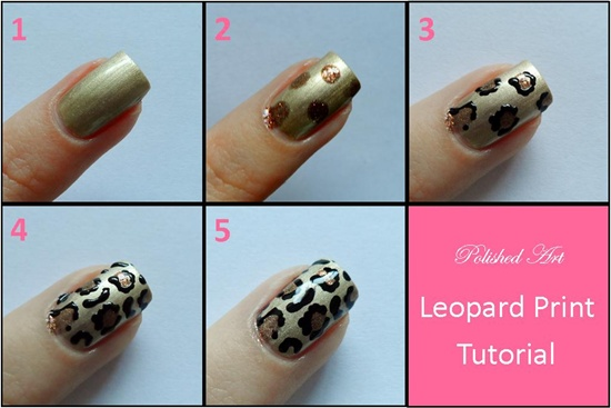 How To Apply Animal Print Nail Art Ideas Glam Leopard
