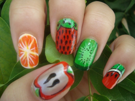 30 Tasty Fruit Nail Art Designs