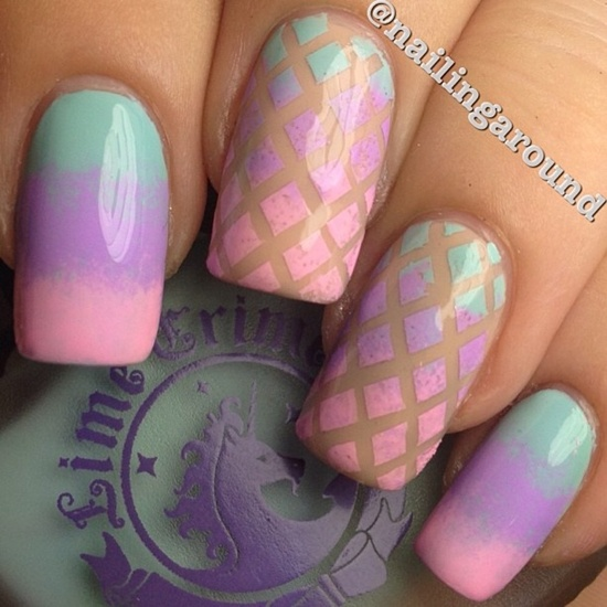Sponge Nail Art Fashion Bat