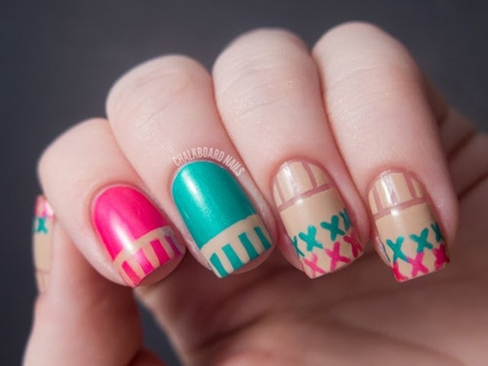 Tribal Nail Art 24