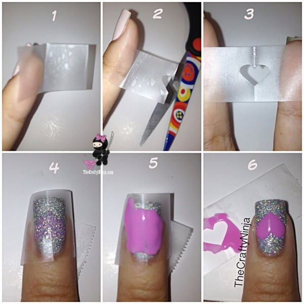 Diy Nails General Charming Purple Heart Polish Tutorial
