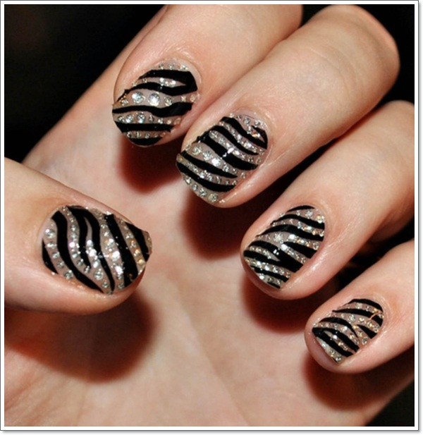 Art Cute Zebra Nails Lavish Print Nail Designs