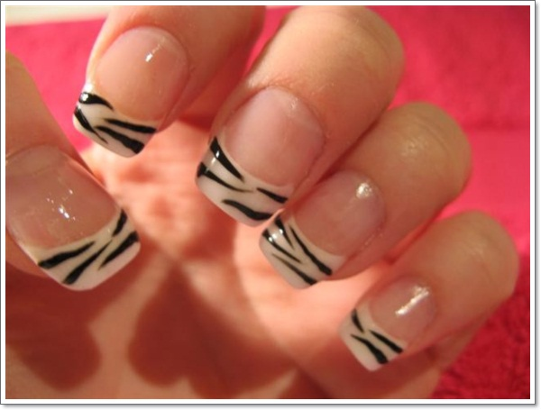 Zebra Nail Designs Ideas