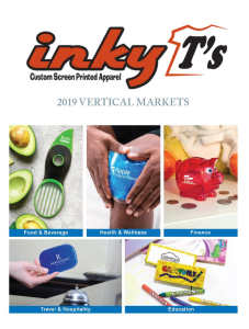 2019 Vertical Markets Catalog