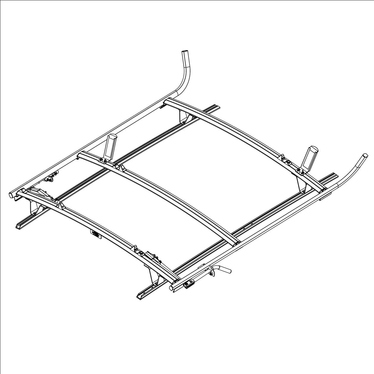 Ranger Design Aluminum Combination Ladder Rack For