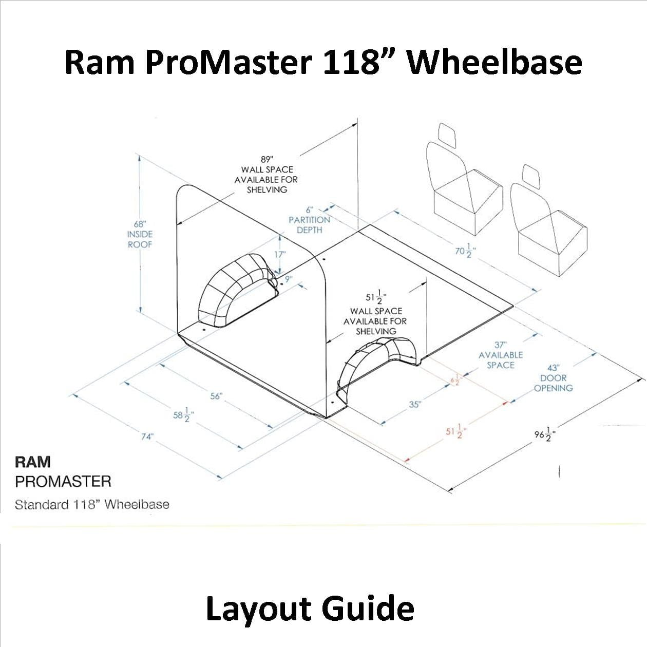 Ram Promaster Layout Guide 118 Wb
