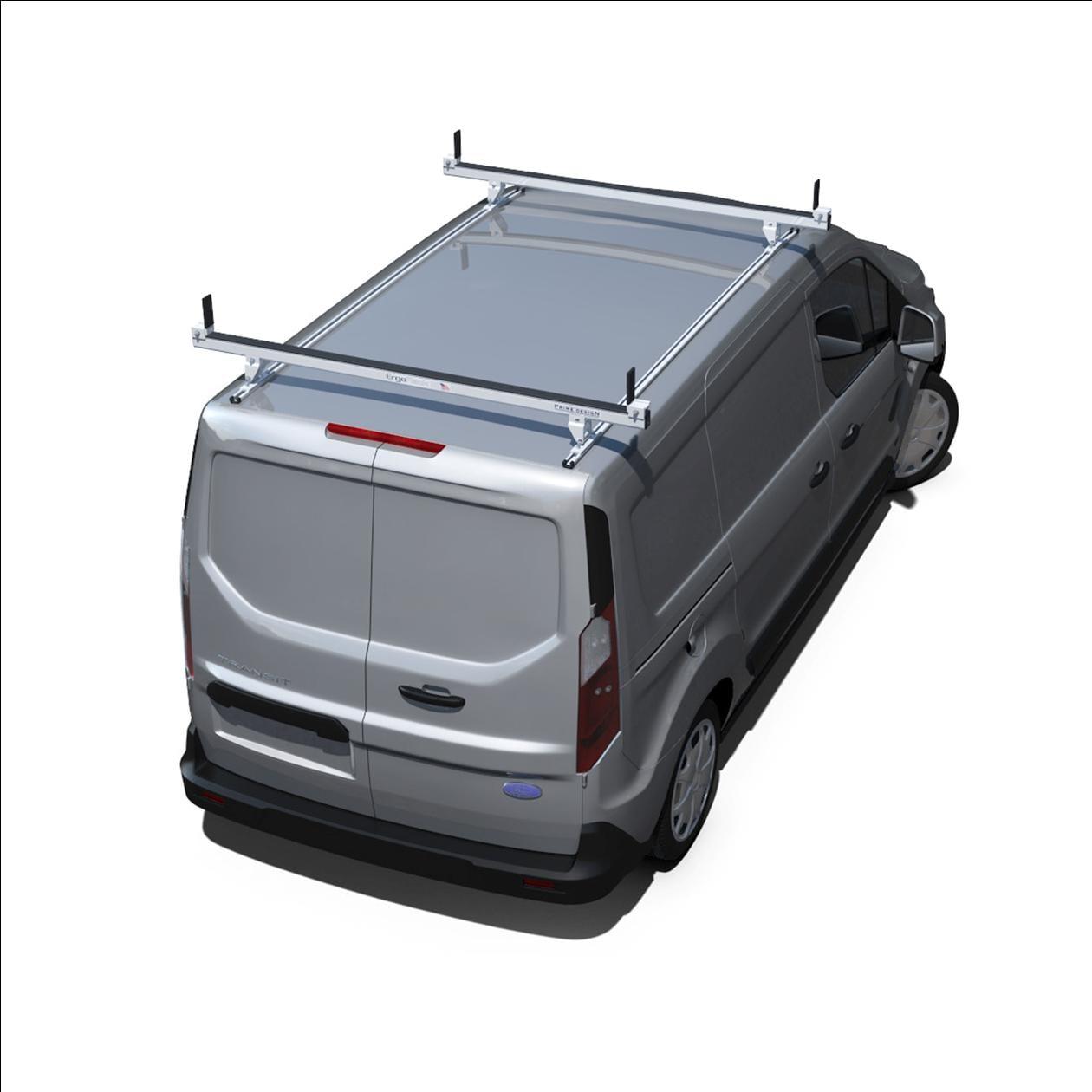 prime design aluminum 2 bar utility rack for ford transit connect vbb tc m