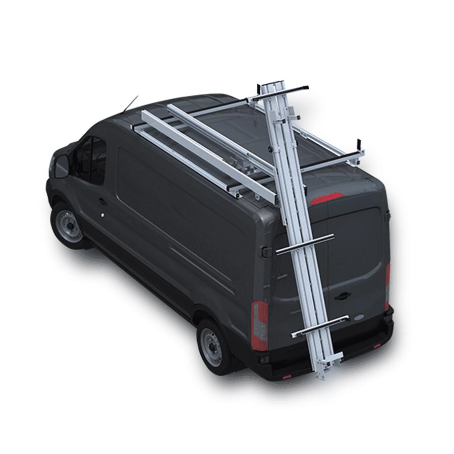 prime design deploypro rear access ladder rack for ford transit medium high roof model dps 8000 fth
