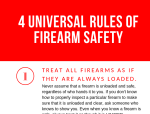 four universal rules of firearm safety