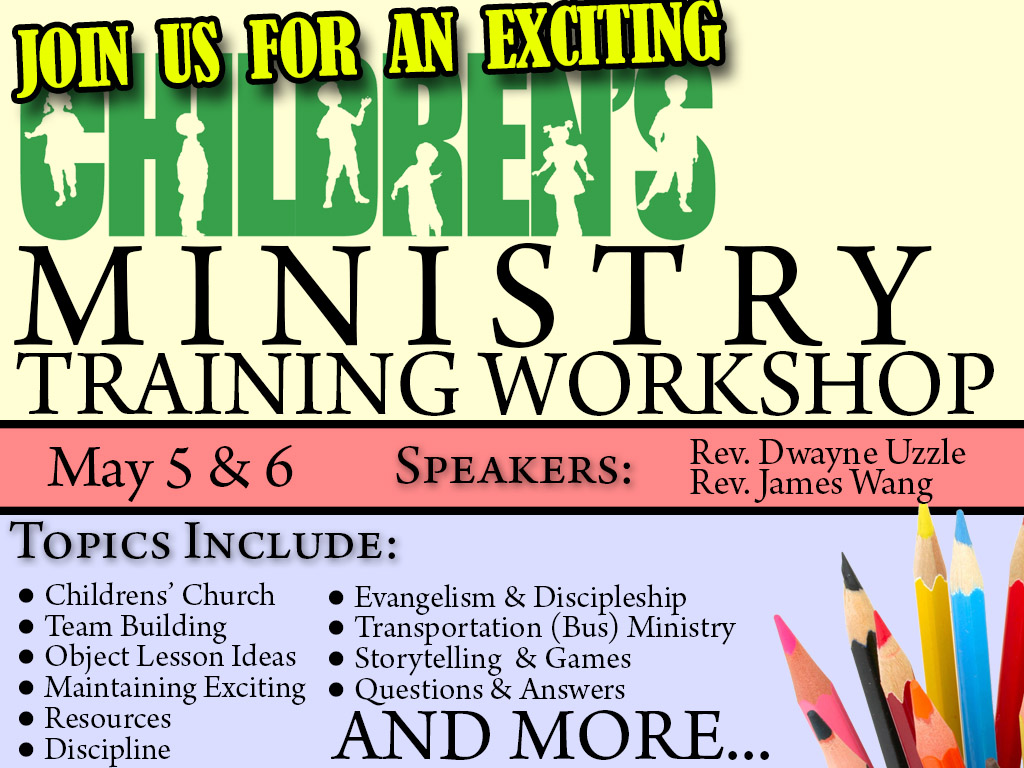 May 5&6 | Children's Ministry Workshop