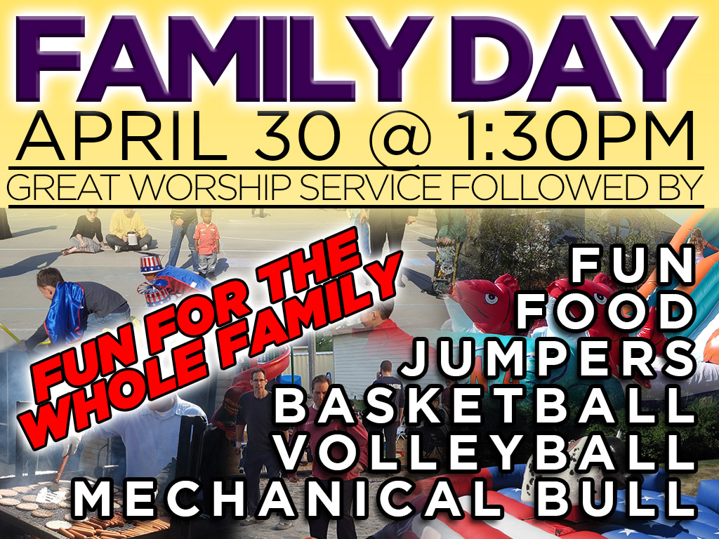 April 30 | Family Day